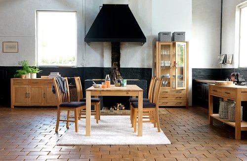 Ruokapöytä SILKEBORG 90x160 tammi