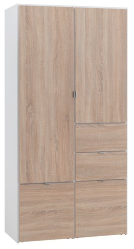 Wardrobe Nautrup 2 Doors White Oak Jysk
