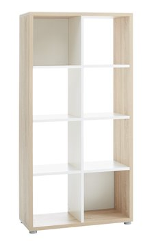 Room Divider PRICE STAR 8shelf Oak White JYSK