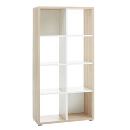 Roomdivider PRICE STAR 8 schap eik/wit