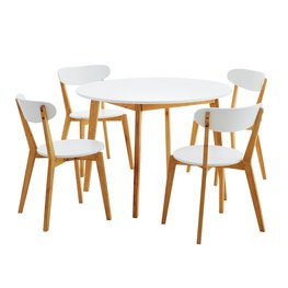 Table JEGIND Ø105cm + 4 chairs JEGIND