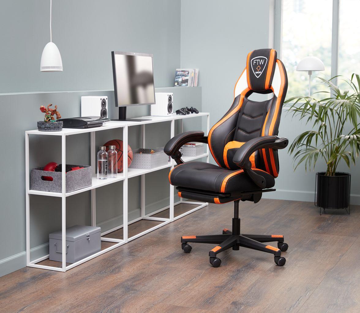 Gamer szék GAMBORG feketenarancssárga