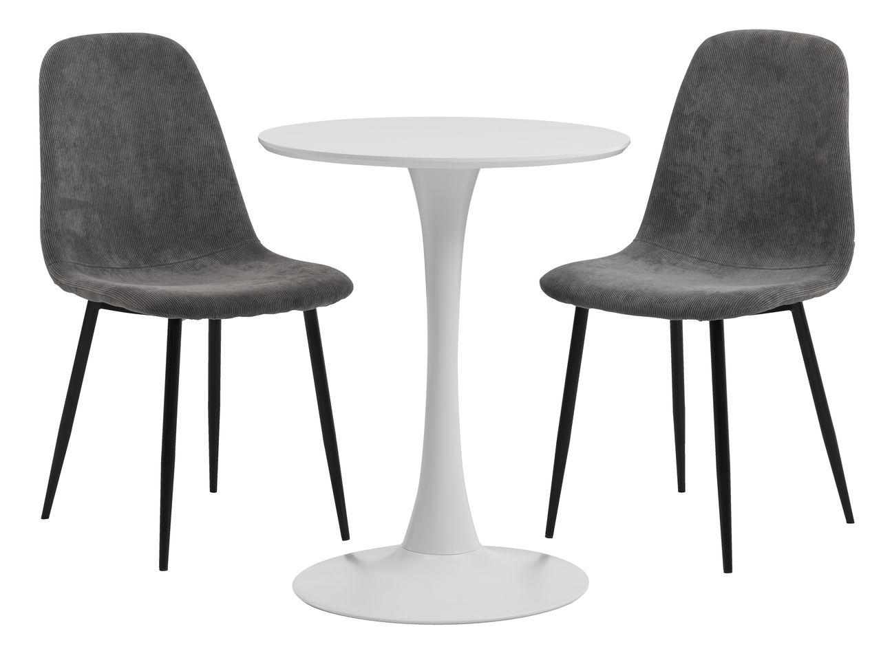 RINGSTED Ø60 vit + 2 JONSTRUP grå