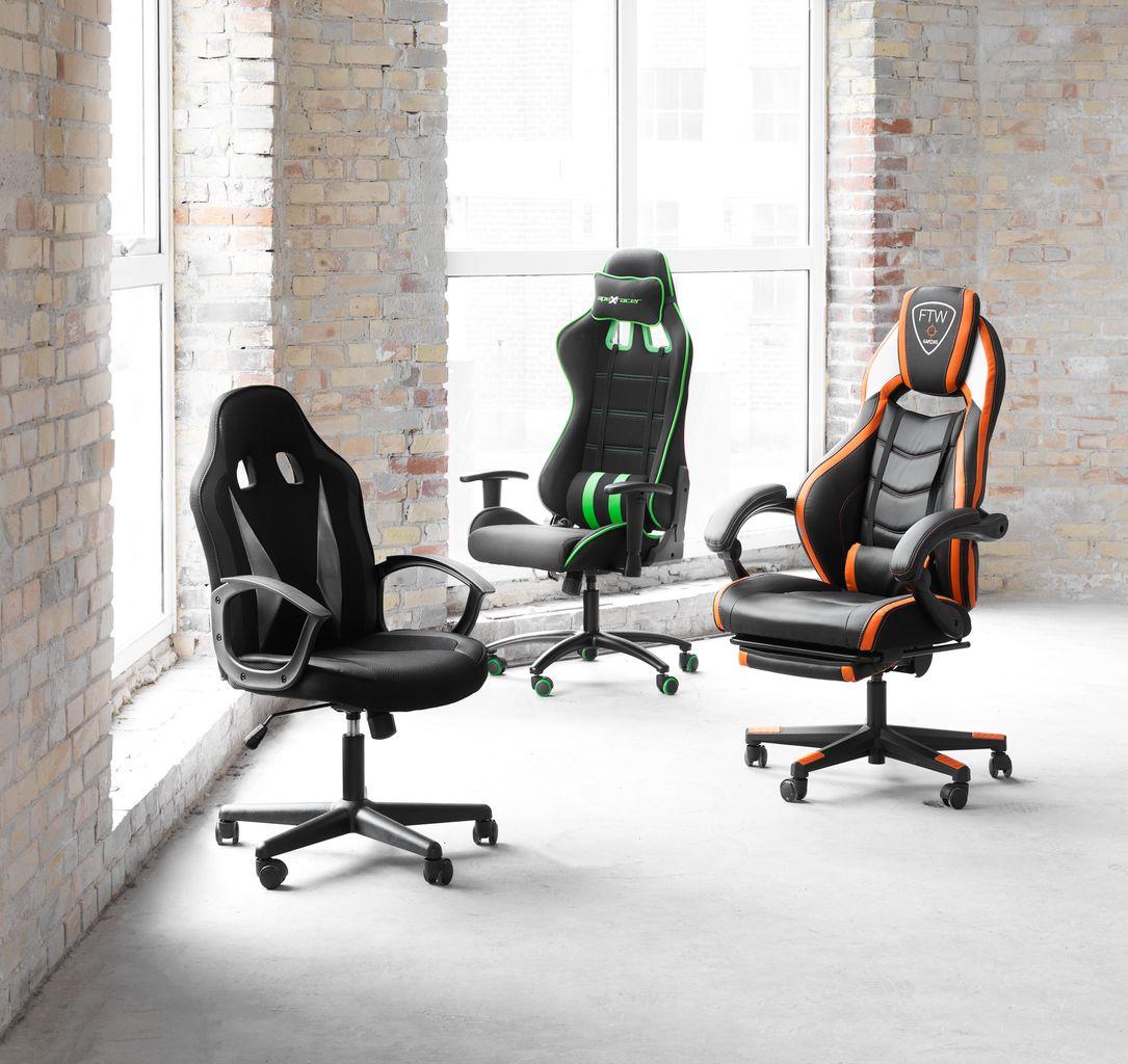 gamer szék gamborg fekete narancssárga