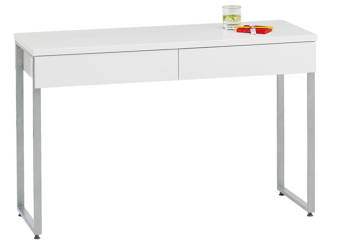 Skrivebord STEGE 40x120 hvit høyglans | JYSK