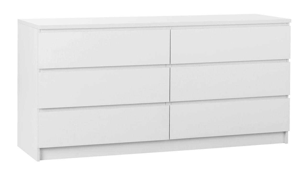 jysk kommoder Kommode LIMFJORDEN 3+3 skuffer hvid | JYSK jysk kommoder