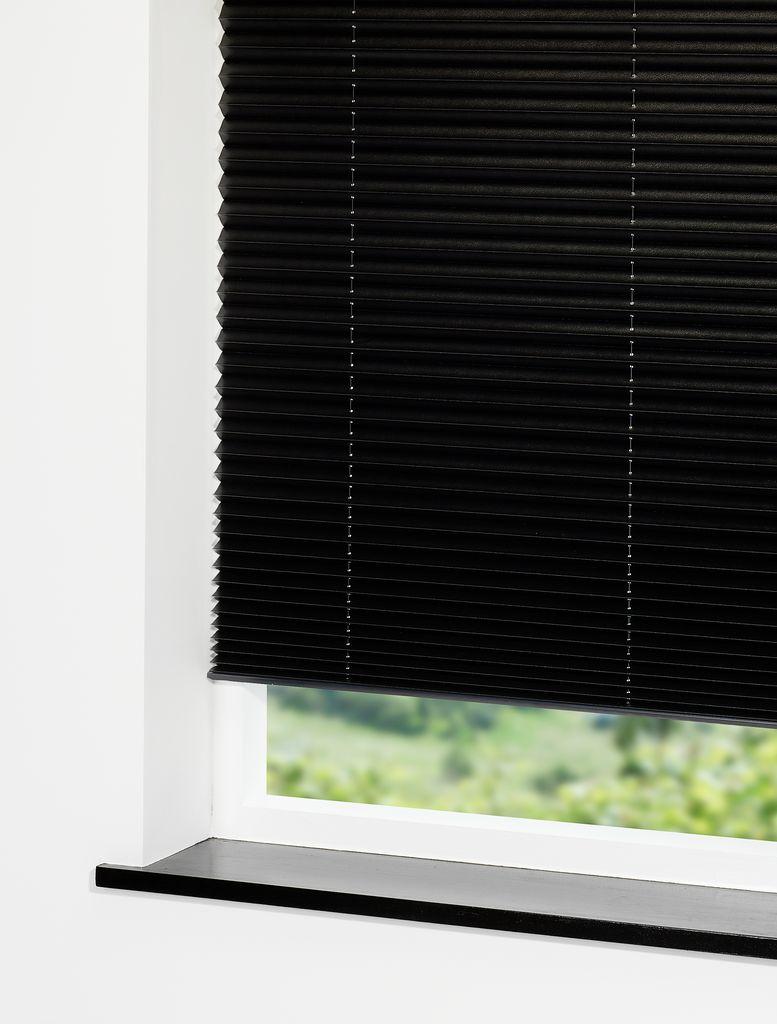 Plisségardin EGHOLM 110x160 mørklæg sort | JYSK : persienner jysk : Inredning