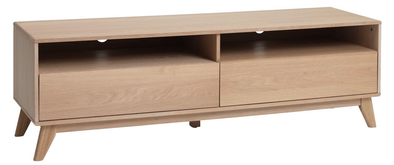 tv bord kalby 2 skuffer lys eg jysk. Black Bedroom Furniture Sets. Home Design Ideas