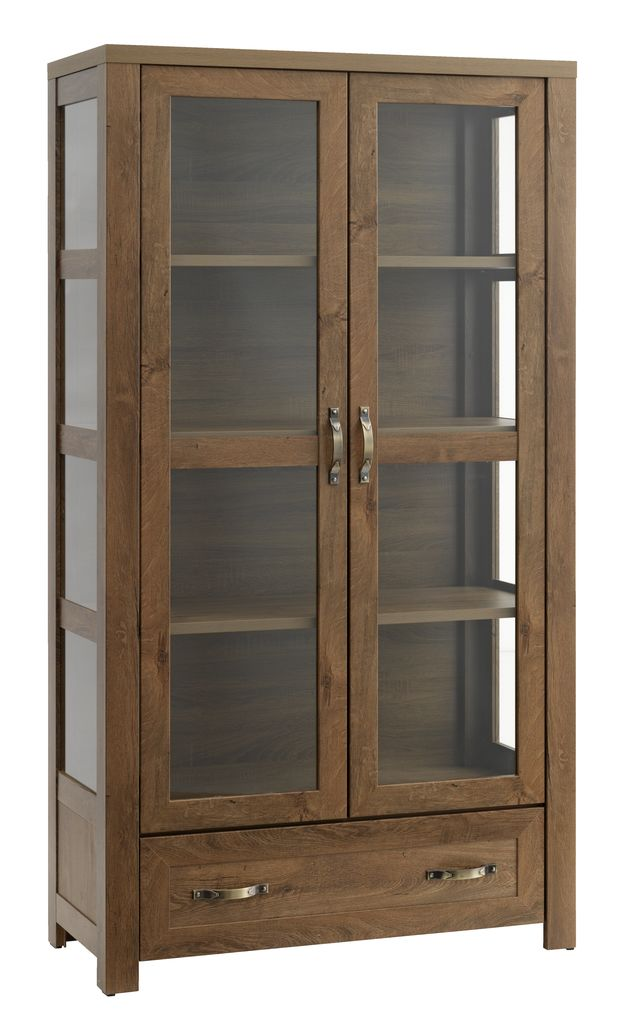 display cabinet jungen 2 doors wild oak