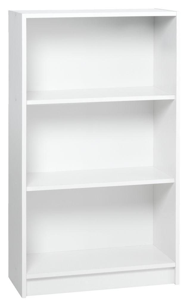 boekenkast horsens 3 schappen breed wit
