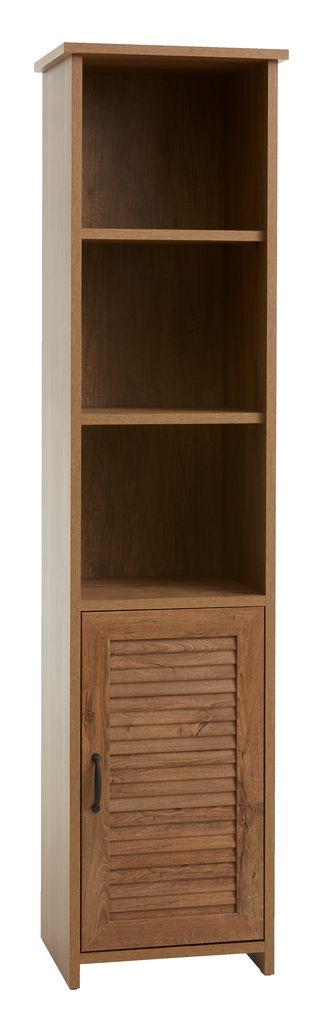 boekenkast manderup 1 deur 31 schap eik