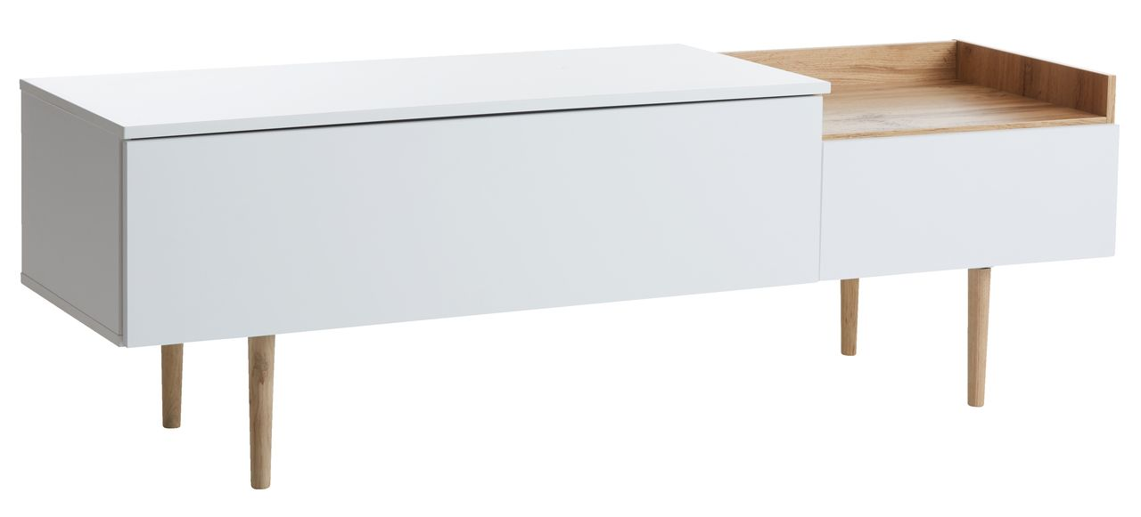 Where to find bathroom mirrors - Tv Bench Aarup 2 Drawers White Oak Jysk