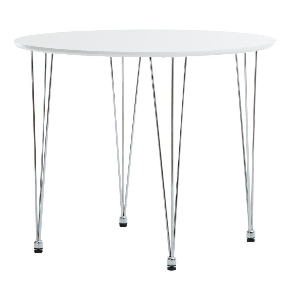 spisebord jysk Spisebord BANNERUP Ø90 hvid/krom | JYSK spisebord jysk
