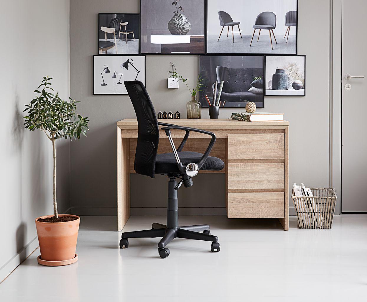 Skrivebord HALLUND 59x119 eikefarget | JYSK