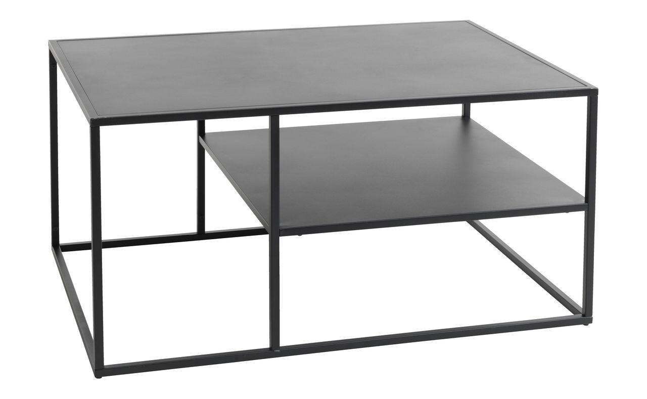sofabord med hylde Sofabord VIRUM 60x90 m/hylde sort | JYSK sofabord med hylde