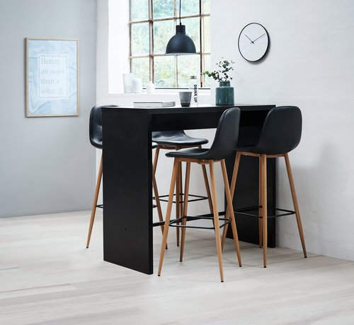 Barska miza BROHAVE 50x120 cm črna