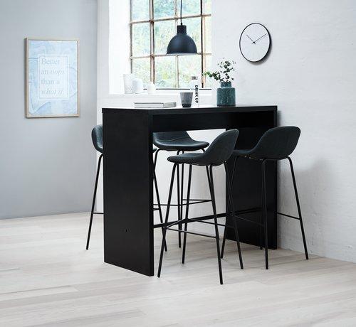 Masă bar BROHAVE 50x120 neagră