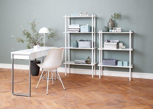 Desk STEGE 40x120 white high gloss