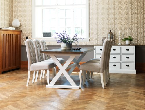 Dining table KALUNDBORG 90x180 brown