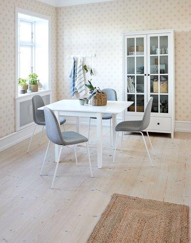 Jedálenský stôl NORDBY 80x70/120 biela