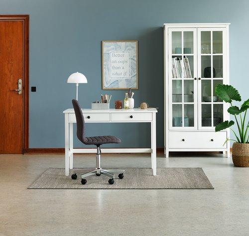Písací stôl NORDBY 55x110 biela
