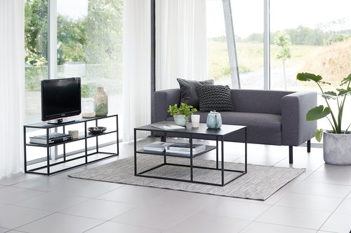 Sofa KARISE 2.5 seater anthracite grey