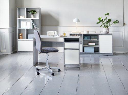 Письменный стол BILLUND бетон/белый