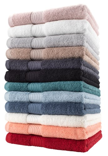Bath towel KARLSTAD dusty blue KRONBORG