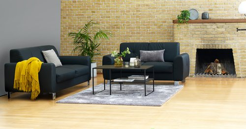 Coffee table VIRUM 60x90 cm w/s black