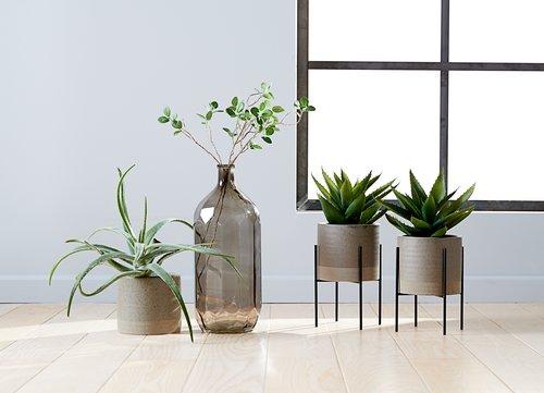 Plant pot MANDRUP D18xH28cm w/stand