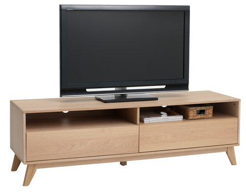 TV bench KALBY 2 drw light oak