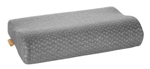 Подушка WELLPUR VOSS серый 30x50x10/7см