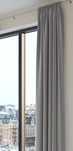 Curtain AUSTRA 1x140x245 velvet grey