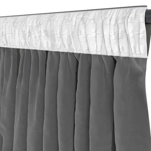 Gardin AUSTRA 1x140x245 sammet grå