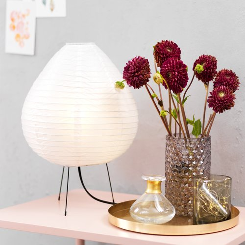 Pöytälamppu IVAN Ø27xK38cm valk. paperi