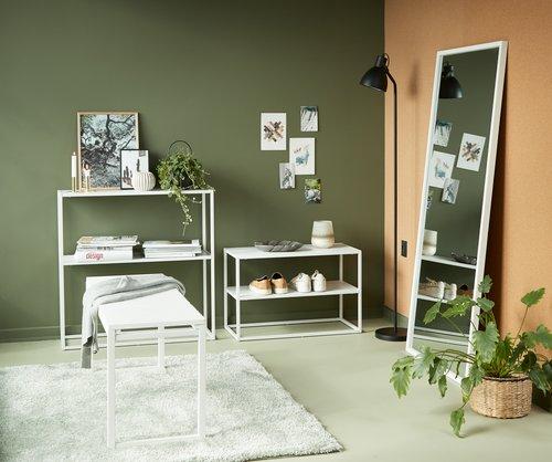 Speil OBSTRUP 68x152 hvit