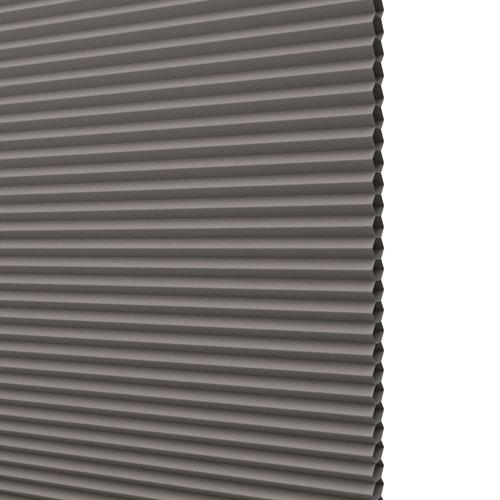 Plisségardin Mörkl. FUR 120x130 grå