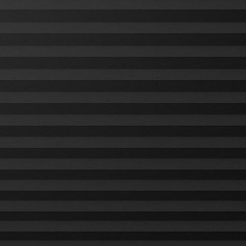Plisségardin FYN 100x160 lysdemp svart