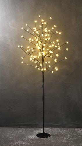Light tree BYLEIST H150cm w/flowers LED