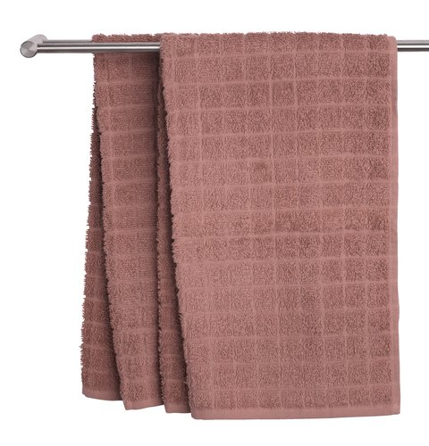 Рушник KARBY 40x70см т.рожевий