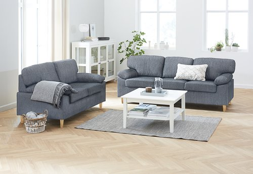 Sofa set GEDVED 2 pieces grey