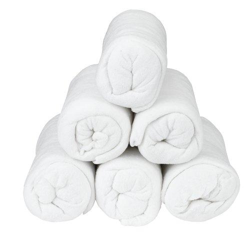 Σεντόνι πετσετέ 80/90x200x25cm λευκό