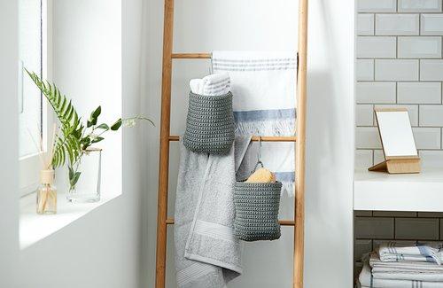 Gæstehåndklæde KARLSTAD lysegrå KRONBORG