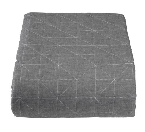 Sängöverkast HIRSHOLM 240x260 grå
