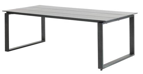 Table KOPERVIK 100x215 gris