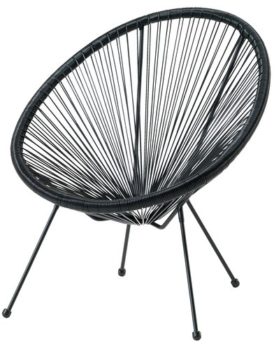 Chaise lounge UBBERUP noir