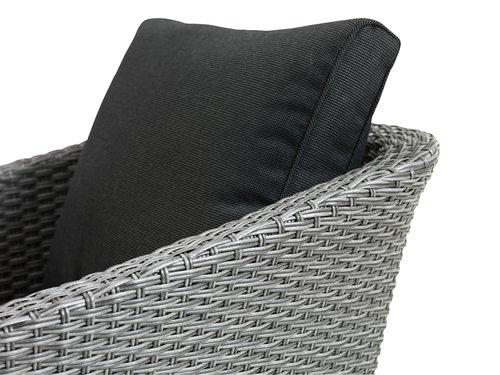 Лаунж крісло VEBBESTRUP сірий