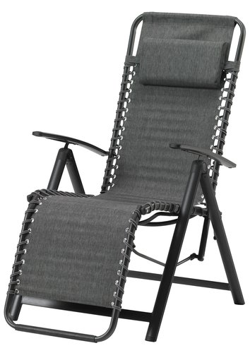 Chaise relax EGHOLT gris