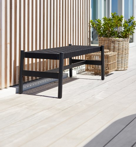 Bench BEDER W129xL48 black