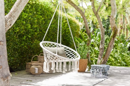 Hanging chair NITTEDAL W83xL83 white